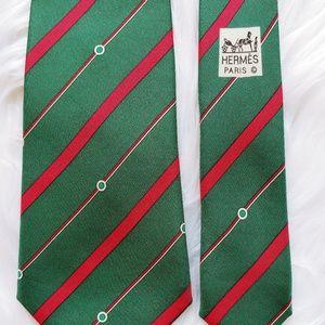 """Vintage Christmas Hermes Silk Tie 58"""""""